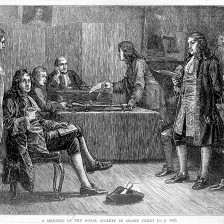 L0013032 Royal Society, Crane Court, off Fleet Street, London: a meet Credit: Wellcome Library, London. Wellcome Images images@wellcome.ac.uk http://wellcomeimages.org Royal Society, Crane Court, off Fleet Street, London: a meeting in progress, with Isaac Newton in the chair. Wood engraving by J. Quartley after [J.M.L.R.], 1883. 1883 after: John Arthur QuartleyOld and new London Published: - Copyrighted work available under Creative Commons Attribution only licence CC BY 4.0 http://creativecommons.org/licenses/by/4.0/